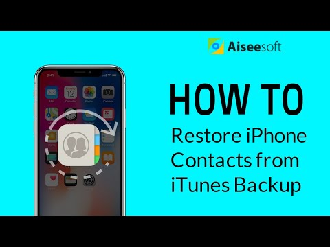 [Solved] How to Restore Contacts from iTunes