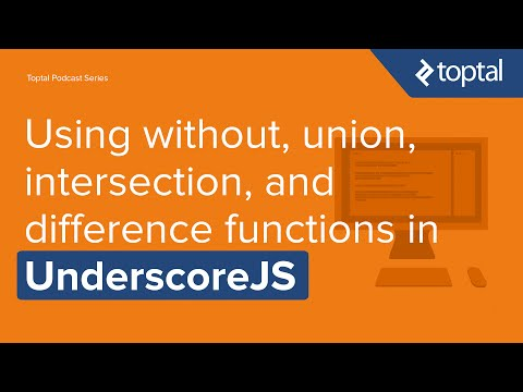 JavaScript Video Tutorial - without, union, intersection, and difference functions in UnderscoreJS
