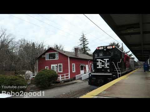 MTA / CDOT Metro-North's Danbury Shuttle Train at Cannondale, CT RR