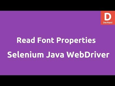 Read Font Properties In Selenium Java WebDriver