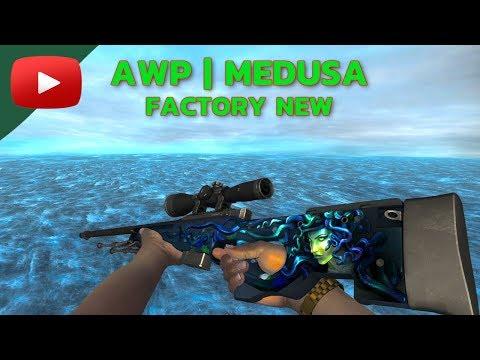 CS GO | AWP Medusa Factory New Skin Showcase (Low-Float Value)