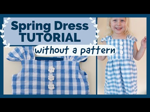 DIY TODDLER DRESS  | easy spring dress without a pattern