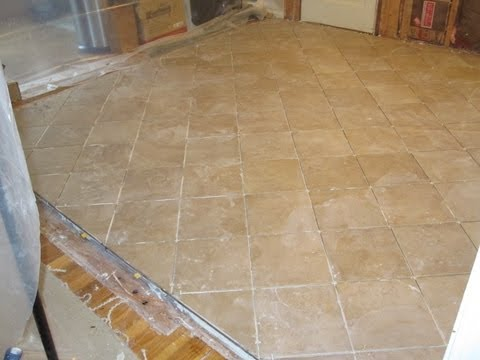 Time lapse ceramic tile installation with Schluter Ditra