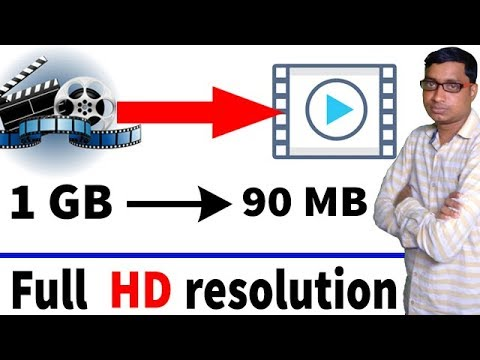 Create a 1GB video to 100 MB on HD quality.