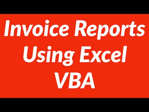 Automate Invoice Report Generation Using Excel VBA