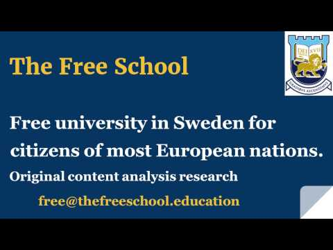 Sweden : free university education for citizens of most European countries