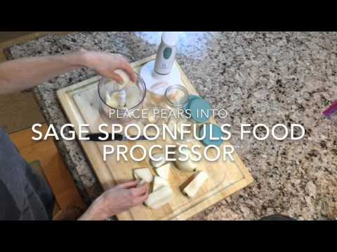 Stage 1: Easy No Cook Homemade Pear Baby Food Recipe | Sage Spoonfuls