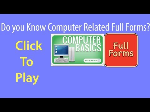Important Full Forms of Computer Related Terms | PCGUIDE4U