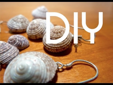 DIY Simple Shell Earrings