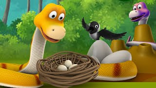The Crow and The Snake Bengali Story - সাপ এবং কাক বাংলা গল্প 3D Animated Bangla Kids Moral Stories