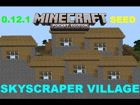 [MCPE 1.2.5] AWESOME SKYSCRAPER VILLAGE + STRONGHOLD SEED | MINECRAFT PE