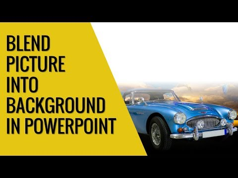 How to blend picture into background in Powerpoint