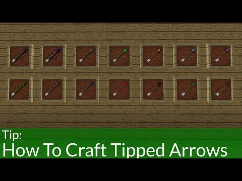 How To Craft Tipped Arrows In Minecraft