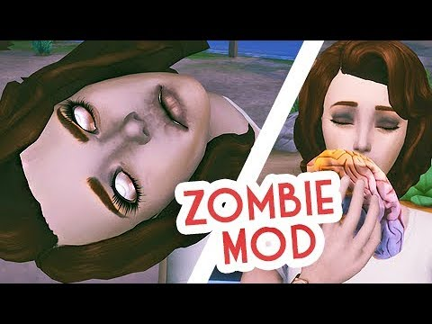 BRAAAAAIIIINNS!! // ZOMBIE MOD REVIEW | THE SIMS 4