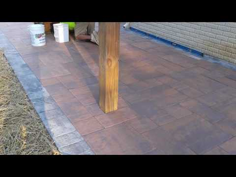 Nicolock Golden Brown, Stone Ridge XL patio hardscape in Spring Grove - Ryan's Landscaping
