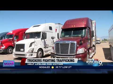 Truck drivers fighting human trafficking