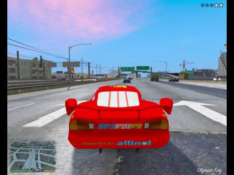 GTA 5 PC Lightning McQueen Escapes The Cops