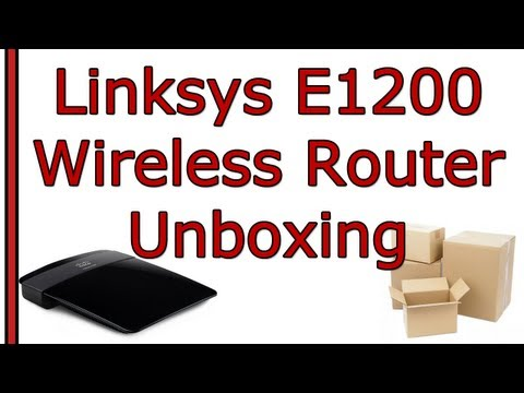 Linksys E1200 Wireless N Router Unboxing - Refurbished :O