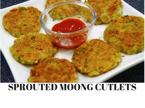Sprouted Moong Cutlets | How to make Sprouted Moong Cutlets | Ideas for kids burger -CurryfortheSoul