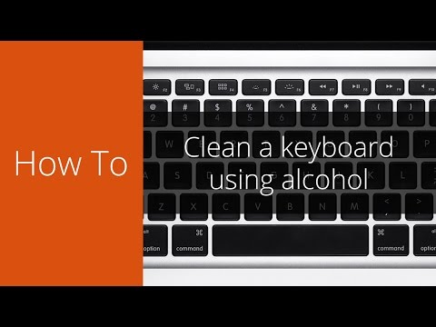 How to clean your keyboard with isopropyl or rubbing alcohol