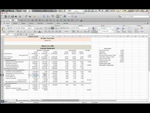 Video Tutorial #4 - Finding Income Statement Value Drivers (part 3)