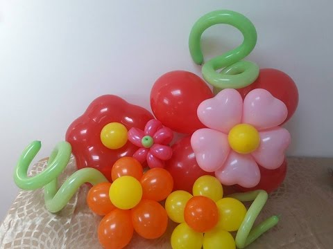 DIY Balloon flower decorations. How to make beautiful floral decor out of balloons