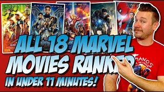 All 18 MCU Movies Ranked Worst to Best in Under 11 Minutes  (w/ Black Panther Movie Review)