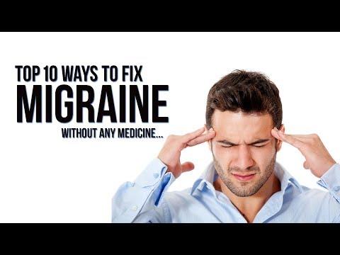 Top 10 ways to fix Migraine | Headache without any medicine...