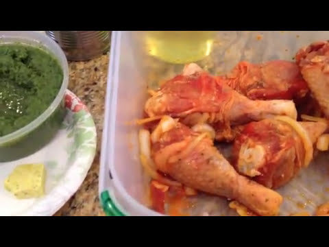Dominican style stewed Chicken/ Pollo guisado. delicious and easy meal. NYC