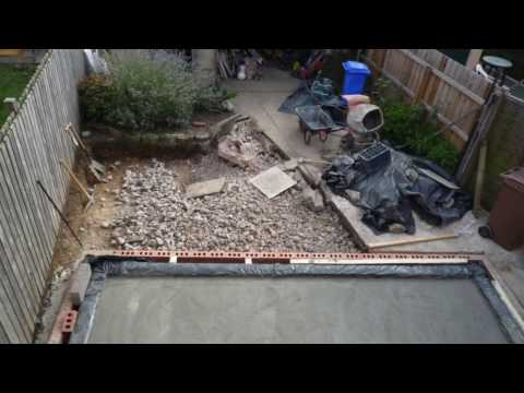 Building my own Kitchen Extension Part 1, Foundations