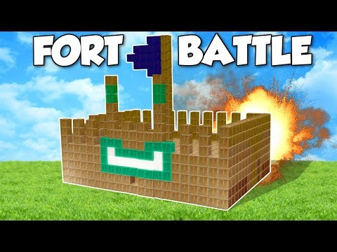 BOX FORT BATTLE?! - Garry's Mod Gameplay - Gmod Building a Box Fort Battle Challenge!