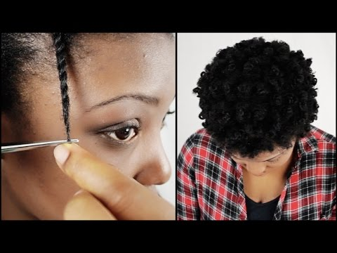 How To Trim Natural Hair Split Ends YOURSELF!