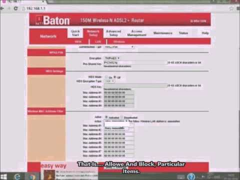 iball baton 150 M Wireless-N ADSL2+Router Protecting(Securing) From Hacking OR Unauthorized Use.
