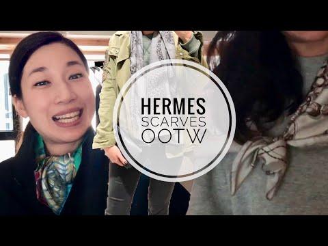 OOTW   HERMES SCARVES OOTD