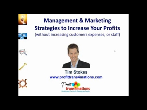 Managing a Business | How to Improve Profitability | Increase Profits Webinar