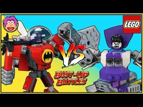 Batman Mech vs Bizarro Battle Suit - LEGO BUST-UP BATTLES #1 Batman battles Bizzaro - OzToyReviews