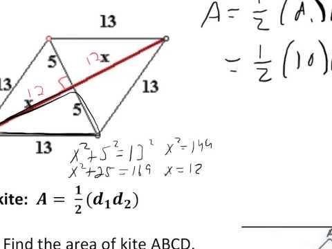 G L9.1 V5 Area of a Rhombus & Kite
