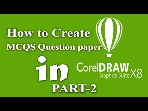 How to create multiple choice question paper in CoreDRAW part 2