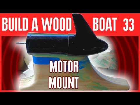 How to Build a Small Electric Wooden Boat - Mounting Electric Motor on a Mini Boat