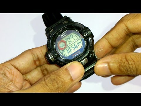 G-SHOCK SOLAR ATOMIC (G-9200) battery removal and disassembly
