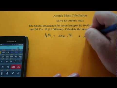 Calculating Atomic Mass of an Element