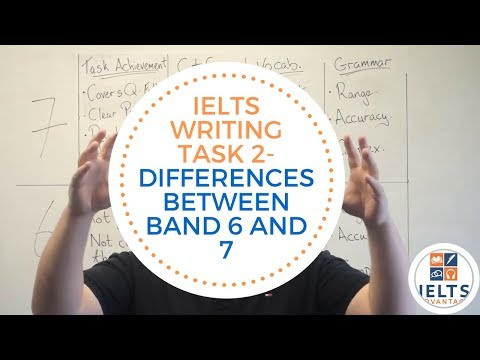 IELTS Writing Task 2- Differences Between Band 6 and 7