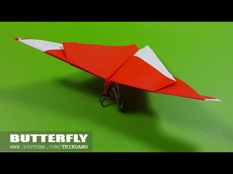 EASY ORIGAMI BUTTERFLY- How to make an Origami paper plane that flies | Butterfly
