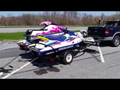 Four place jet ski trailer build
