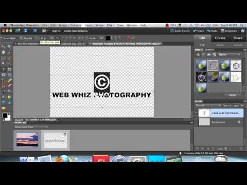 Photoshop Tutorial- Adding Copyright Information..mp4