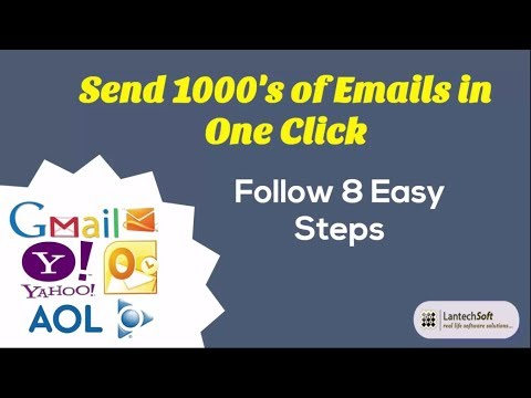 Send 1000's of Emails in One Click Follow 8 Easy Steps