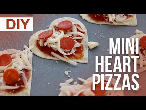 DIY Mini Heart Pizzas | ArtsyPaints