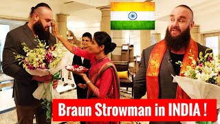 Braun Strowman in INDIA Finally ! Videos & Pictures ! Braun Storwman India 2018 Mumbai Hyderabad