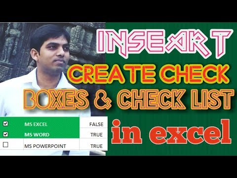 How to create checkbox in excel | how to insert checklist in excel | Excel 2007 to 2016
