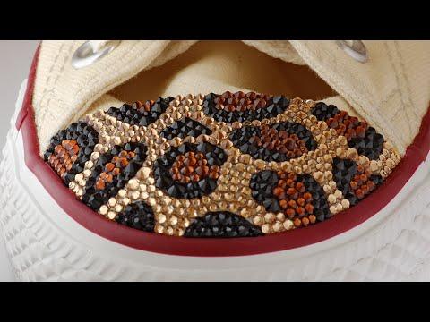 DIY  Studded Leopard Converse! - Leopard Print Converse Hi Tops 0a6ffd3ba
